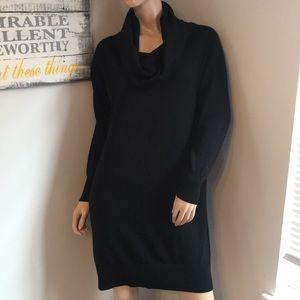 Black Ann Taylor sweater dress Large Lg